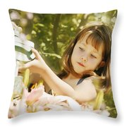 Child Waters Flowers Throw Pillow