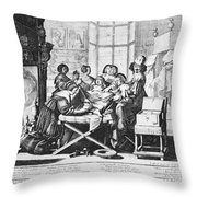 Childbirth, 1633 Throw Pillow