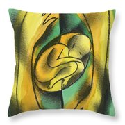 Childbirth Throw Pillow