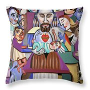 Childern A Gift From God Throw Pillow by Anthony Falbo