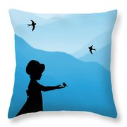 Childhood Dreams 5 Feeding Time Throw Pillow