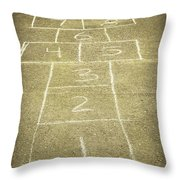 Childhood Games Throw Pillow by Fran Riley