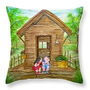Childhood Retreat Throw Pillow