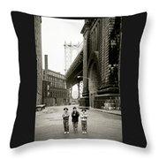 A New York Childhood Throw Pillow