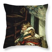 Children Dreaming Of Toys Throw Pillow