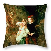 Children In The Wood Throw Pillow