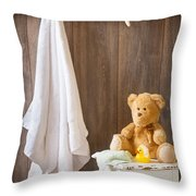 Childrens Bathroom Throw Pillow