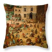 Childrens Games Throw Pillow