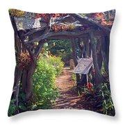 Childrens Garden - Please Duck Throw Pillow