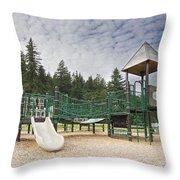 Childrens Playground At Lake Merwin Park Throw Pillow