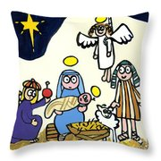 Children's School Nativity Play Throw Pillow
