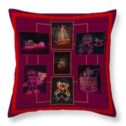 Children's Toys In Lights Poster Throw Pillow