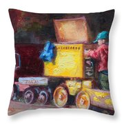 Child's Play - Gold Mine Train Throw Pillow