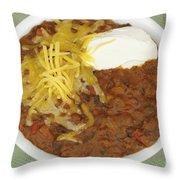 Chili Con Carne Throw Pillow