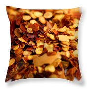 Chili Pepper Flakes Throw Pillow
