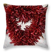 Chili Pepper Heart Throw Pillow