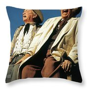 Chill Wills And Andy Devine Singing Atop A Stagecoach Old Tucson Arizona 1971 Throw Pillow