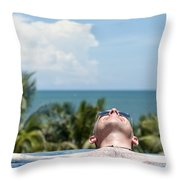 Chilled In Paradise Throw Pillow