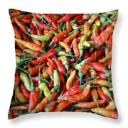 Chilli Background Throw Pillow