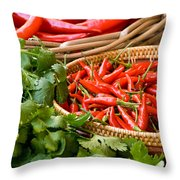 Chillies 04 Throw Pillow