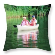 Chillin On The Lake Throw Pillow