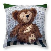 Chilling Bear Throw Pillow
