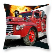 Chilliwack Fire-coming Out Into The Fire Throw Pillow