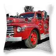 Chilliwack Fire- Mercury Firetruck Throw Pillow