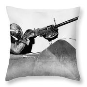 Chilly Army Air Corp Plane Throw Pillow