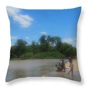 Chilonga Bridge Throw Pillow