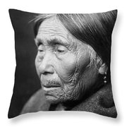 Chimakum Indian Woman Circa 1913 Throw Pillow by Aged Pixel