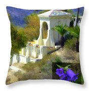 Chimes Tower Bell Flower Throw Pillow