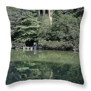 Chimes Tower Reflection Throw Pillow