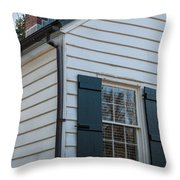 Chimney And Shutters Throw Pillow