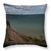 Chimney Bluffs Lake Ontario New York Throw Pillow