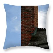 Chimney Moon Throw Pillow