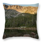 Chimney Pond  Throw Pillow