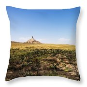 Chimney Rock - Bayard Nebraska Throw Pillow