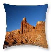 Chimney Rock Capitol Reef National Park Utah Throw Pillow