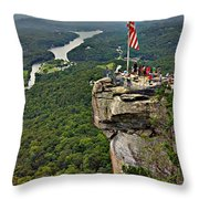 Chimney Rock Overlook Throw Pillow