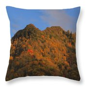 Chimney Tops In Smoky Mountains Throw Pillow