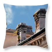 Chimneys In French Quarter Throw Pillow
