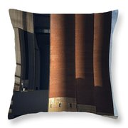 Chimneys Of Coal Power Station. Throw Pillow