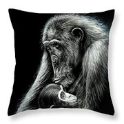 Chimp Love Throw Pillow