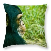 Chimpanzee Profile Throw Pillow