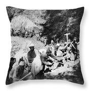 China Burma Road, 1944 Throw Pillow