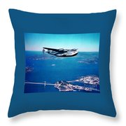 China Clipper Throw Pillow
