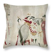 China Concubine & Horse Throw Pillow