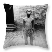 China Famine Victim Throw Pillow