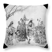 China: Peddler & Children Throw Pillow